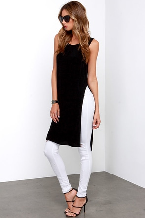 Catch Twenty Tunic Black Maxi Top at Lulus.com!