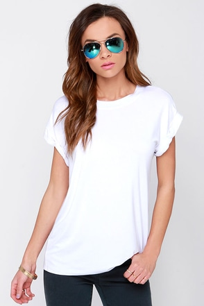 Roll With It White Tee at Lulus.com!