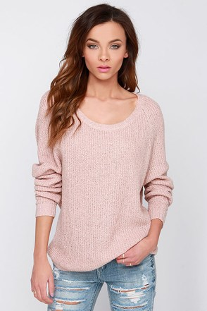Snuggler's Cove Beige Sweater at Lulus.com!