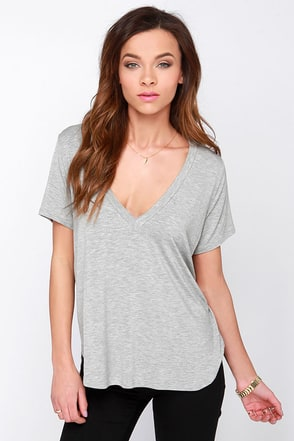 Oh V Oh My White V Neck Tee at Lulus.com!