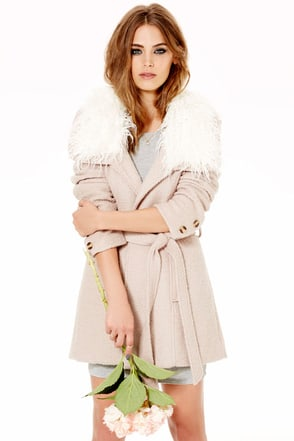 Somedays Lovin' Almond Bluff Blush Wrap Coat at Lulus.com!