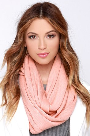 Layer She Goes Blush Infinity Scarf at Lulus.com!