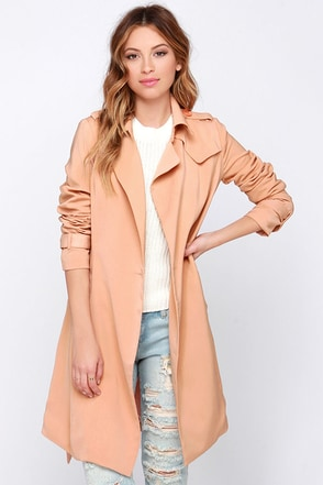 SoHo to Speak Blush Trench Coat at Lulus.com!