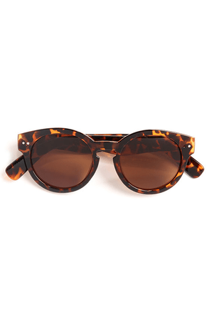 Milano Tortoise Sunglasses at Lulus.com!