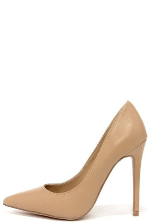 Click Your Heels Blush Pink Pointed Pumps at Lulus.com!