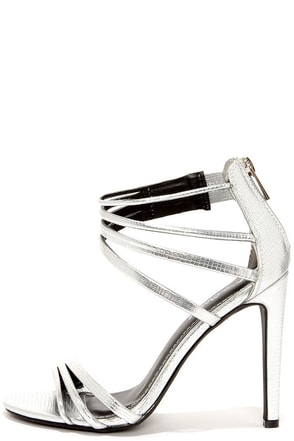 Pretty Does Silver Lizard Dress Sandals at Lulus.com!