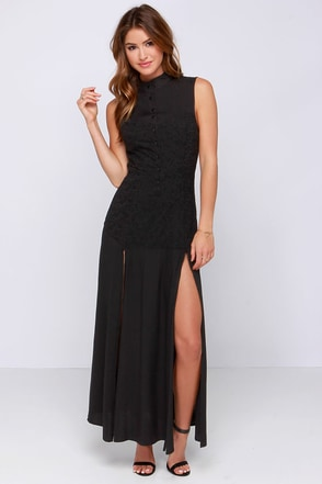 Somedays Lovin' Persistence Black Maxi Dress at Lulus.com!