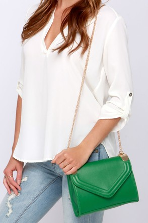 Chain of Scenery Green Purse at Lulus.com!
