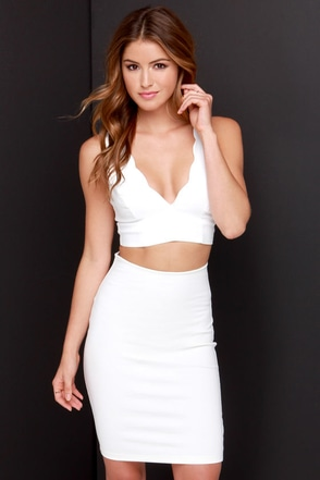 Crop-ular Demand Ivory Crop Top at Lulus.com!