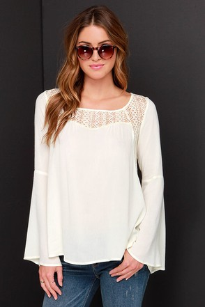 Bell Tolls Cream Lace Top at Lulus.com!