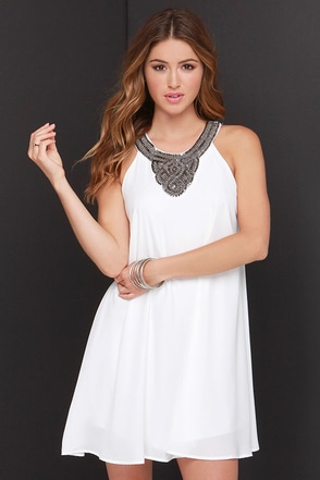 For Sienna Dance to the Bead Ivory Beaded Dress at Lulus.com!