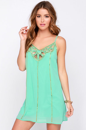 Cutout to Sea Mint Beaded Dress at Lulus.com!