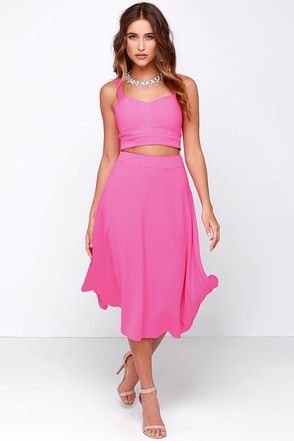 JOA Two-ti Frutti Fuchsia Two-Piece Dress at Lulus.com!