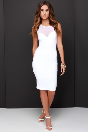 Forever Sweethearts Ivory Bodycon Dress at Lulus.com!