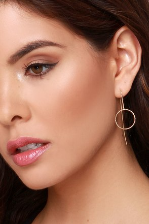 Year Round Gold Earrings at Lulus.com!
