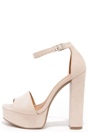 Chinese Laundry Avenue Lemon Suede Platform Heels at Lulus.com!