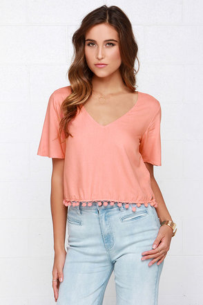 O'Neill Aanya Peach Crop Top at Lulus.com!