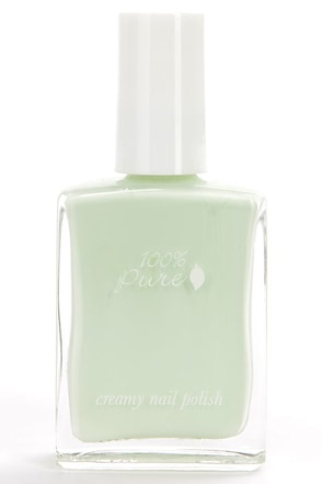 100% Pure Cloud Creamy Light Blue Nail Polish at Lulus.com!