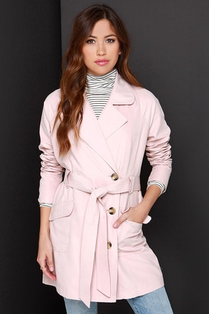 Jack by BB Dakota Brydon Blush Coat at Lulus.com!