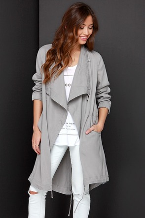 BB Dakota Ragni Grey Jacket at Lulus.com!