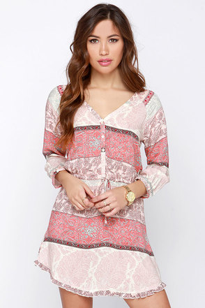 O'Neill Miki Blush Print Dress at Lulus.com!