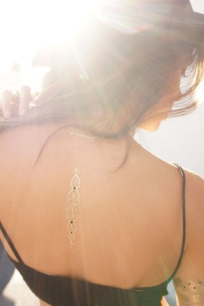 Live, Love, Wander Metallic Temporary Tattoos at Lulus.com!