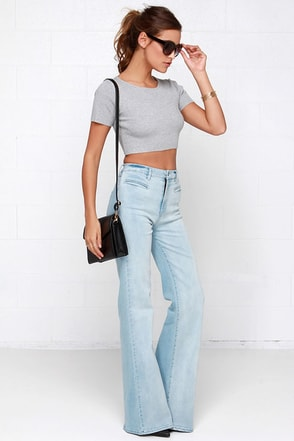 Somedays Lovin' Daze Light Wash Flare Jeans at Lulus.com!