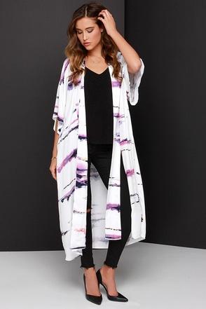Somedays Lovin' The Sun Sets Ivory Print Kimono Top at Lulus.com!