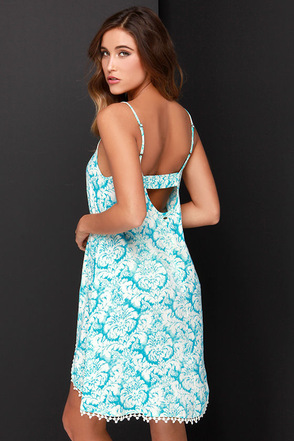 O'Neill Mary Turquoise Print Dress at Lulus.com!