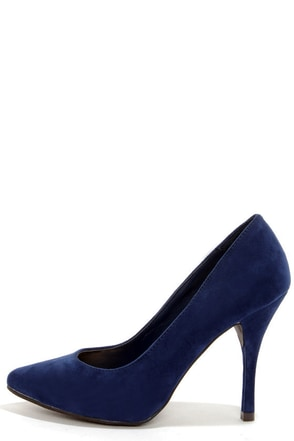 Holly 41 Navy Blue Pointed Pumps
