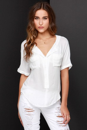 Take it Breezy Ivory Top at Lulus.com!
