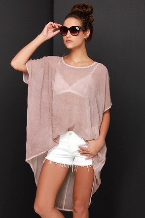 Black Swan Moment Mauve Cover-Up at Lulus.com!