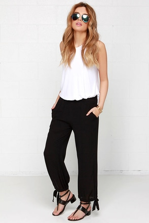 Lucca Couture Out and About Black Pants at Lulus.com!
