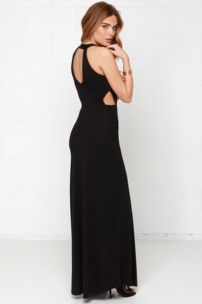 RVCA Outer Reaches Black Maxi Dress at Lulus.com!