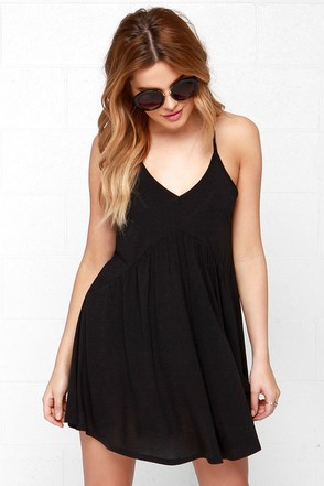 RVCA Whimsy Black Dress at Lulus.com!