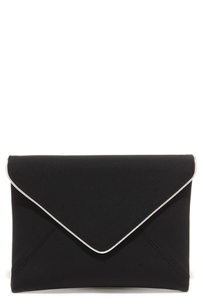 Sign Me Up Black Envelope Clutch at Lulus.com!