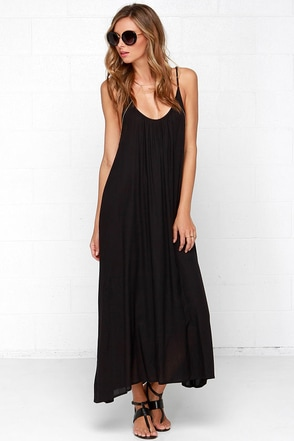 Sun Sign Black Maxi Dress at Lulus.com!