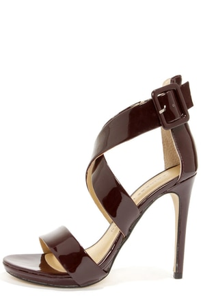 Chinese Laundry Blackjack Syrah Patent Strappy Heels