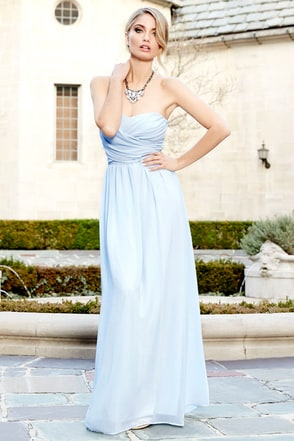 Royal Engagement Strapless Taupe Maxi Dress at Lulus.com!