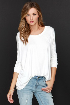 I'm a Believer Black Long Sleeve Top at Lulus.com!