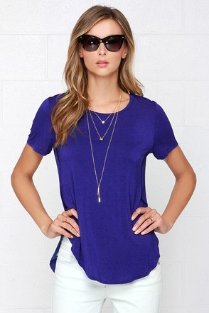 Tee Spirit Royal Blue Tee at Lulus.com!
