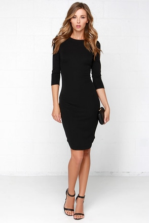 The Fifth Label No Time To Waste Black Midi Dress at Lulus.com!