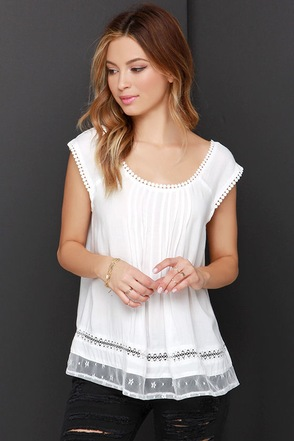Tender Embrace Ivory Lace Top at Lulus.com!