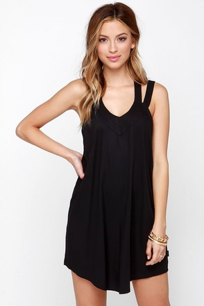 RVCA Tunnel Vision Black Dress at Lulus.com!