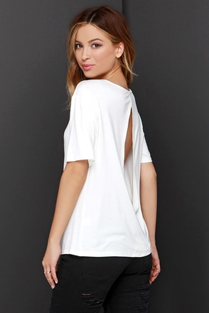 Slit the Big Time Ivory Top at Lulus.com!