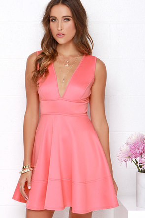 Like You Do Coral Pink Dress at Lulus.com!