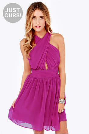 LULUS Exclusive This Twist, This Twist Wine Red Halter Dress