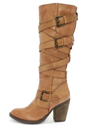 Steve Madden Renegaid Boots Cognac Boots Knee High