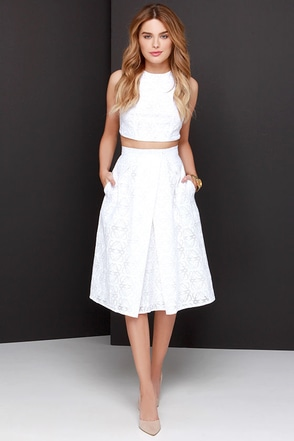 Piece and Harmony Ivory Two-Piece Dress at Lulus.com!