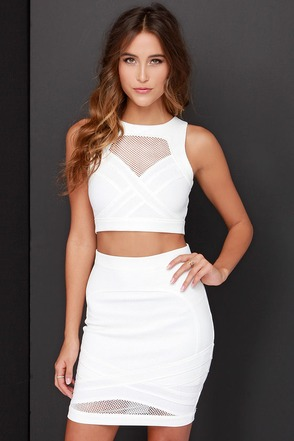 Mesh with the Best Ivory Two-Piece Dress at Lulus.com!